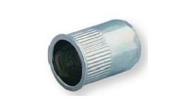 Ecrou à sertir M5 - Affleurant - Cannelé - Inox - Ouvert