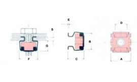 Ecrou cage M10 - écrou acier, cage inox
