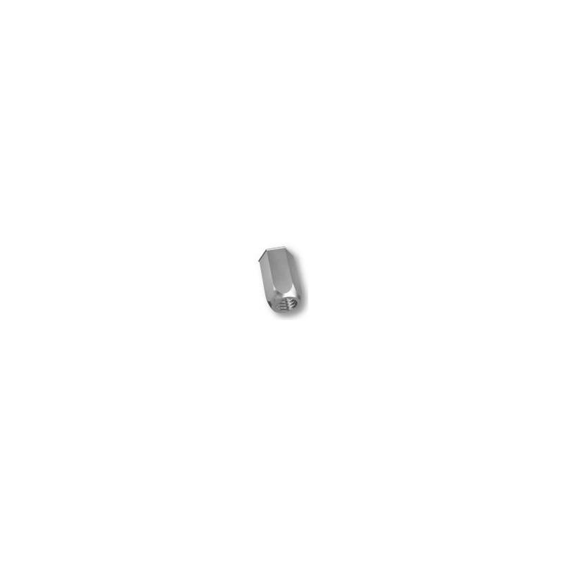 Ecrou à sertir M12 - Affleurant - Hexagonal - Acier - Ouvert
