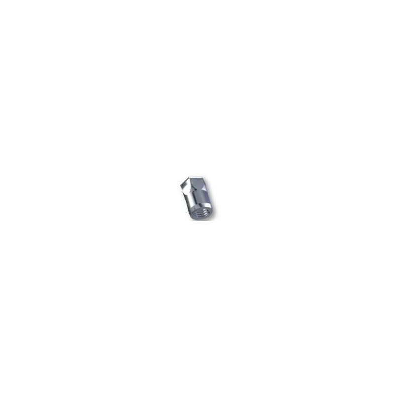 Ecrou à sertir M4 - Affleurant - Semi Haxagonal - Acier - Ouvert