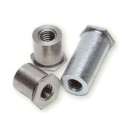 Colonnettes à sertir INOX M4x8 - 7.2 - Ouvert