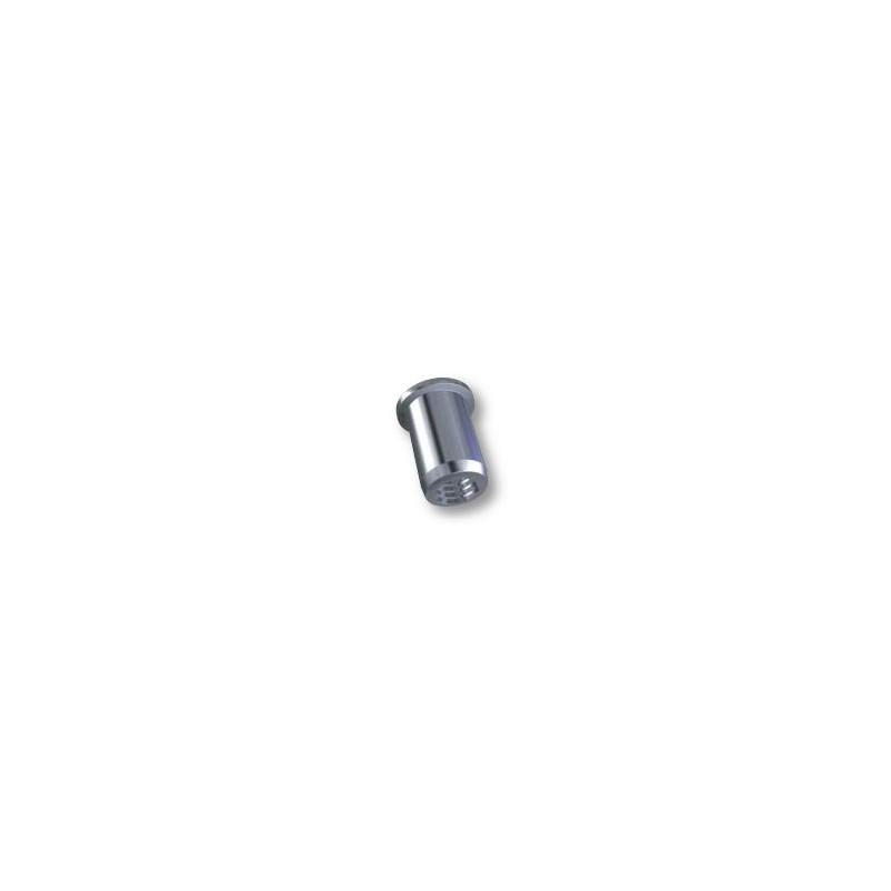 Ecrou à sertir M5 - Plat - Cylindrique - Inox - Ouvert
