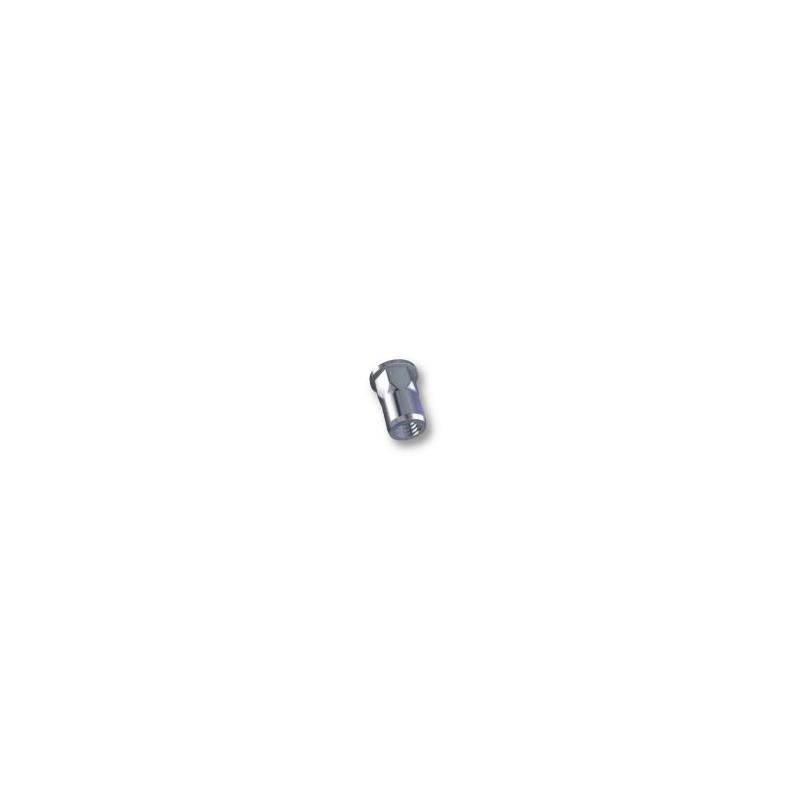 Ecrou à sertir M6 - Plat - Semi Hexagonal - Inox - Ouvert