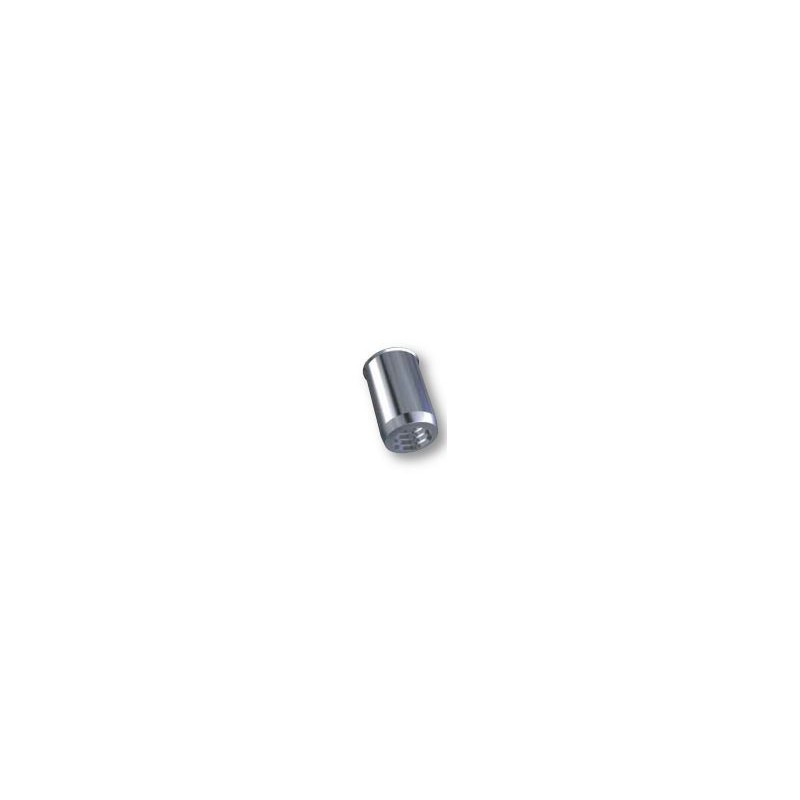Ecrou à sertir M4 - Affleurant - Cylindrique - Inox - Ouvert