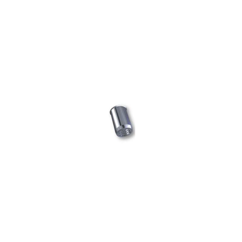 Ecrou à sertir M8 - Affleurant - Cylindrique - Acier - Ouvert