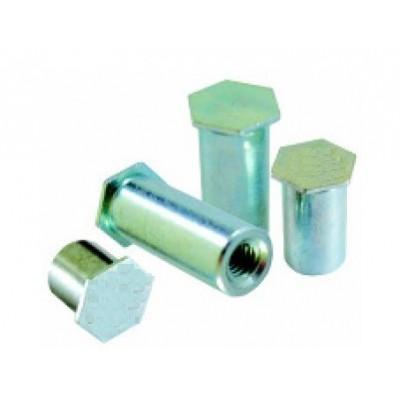 Colonnettes à sertir INOX M5x20 - 7.2 - Borgne